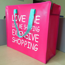 Pink Lovely Design Non woven fabric carry bag with zipper