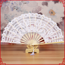 white color Wedding gift hand fan white lace hand fans for wedding GYS120-1