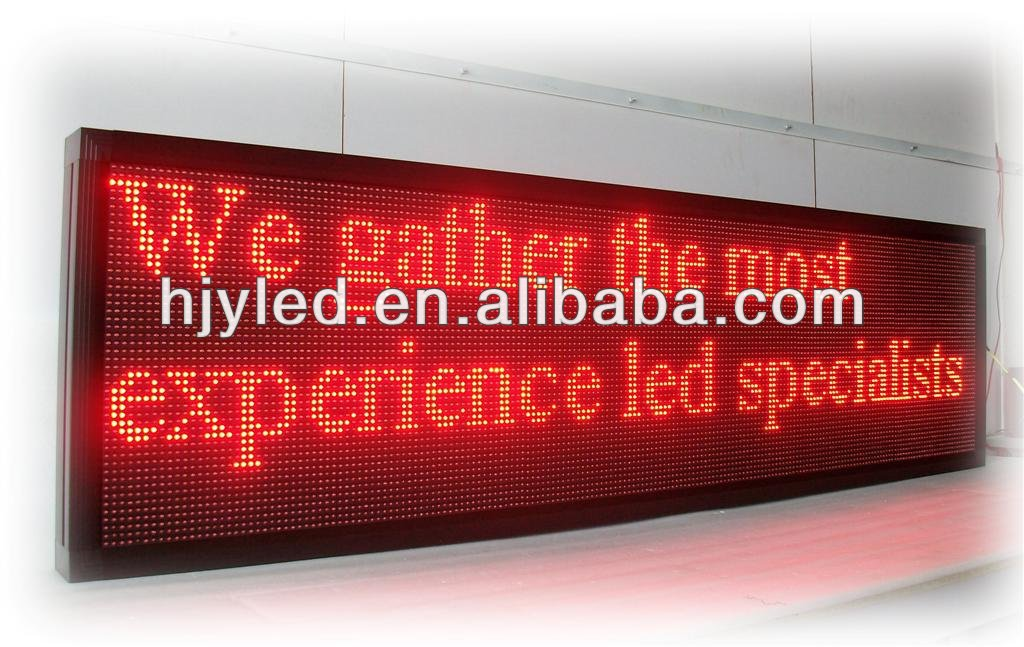 P10 outdoor scrolling / running message text led display board