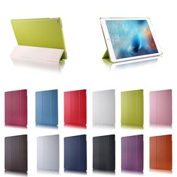 hot selling litchi pattern three folding leather flip case for i pad pro ,for ipad pro 9.7 inch stand case