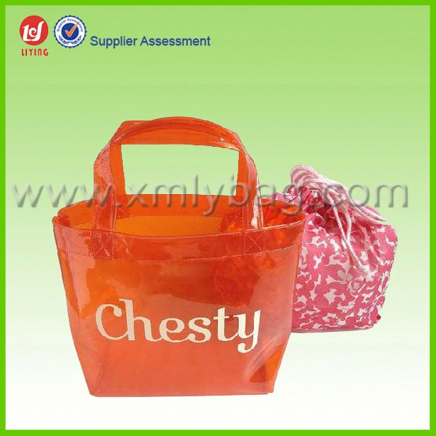 Recyclable Nice Clear PVC Shopping Tote Bag
