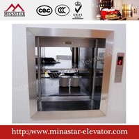 Electric dumb waiter restaurant dumbwaiter lift residential kitchen food elevator for sale
