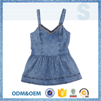 NBZC Welcome OEM ODM the most popular style sleeveless dress,latest design jeans dress,elegant fashion dress women clothing