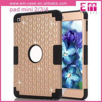 Customized 3 in 1 Adjustable Shookproof Diamond Stars Case Cover for iPad Mini 2/3/4