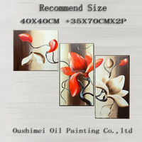 Low Price High Quality No Frame 3 Pieces Group Oil Painting Home Decor Wall Pictures Hand Painted Canvas Art For Living Room