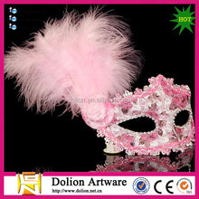 2014 Most Popular Turkey Purple Feather Masks For Carnival