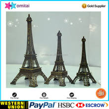 High quality Fashion home decoration metal crafts custom model, Paris Eiffel Tower model metal crafts