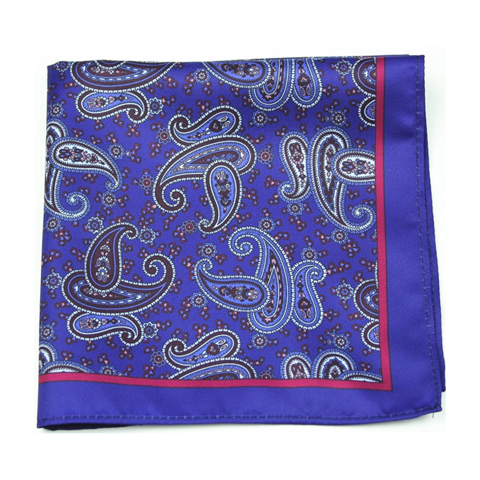 dark blue gift packing handkerchief hanky pocket square in men's suit DPS5372A