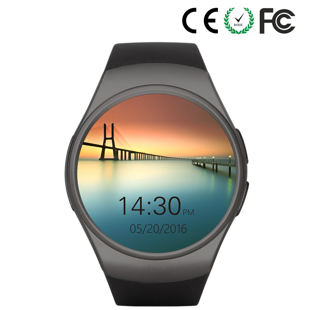 Heart rate monitoring steps counting dz09 smart watch mobile phone KW18 for Android IOS iphone