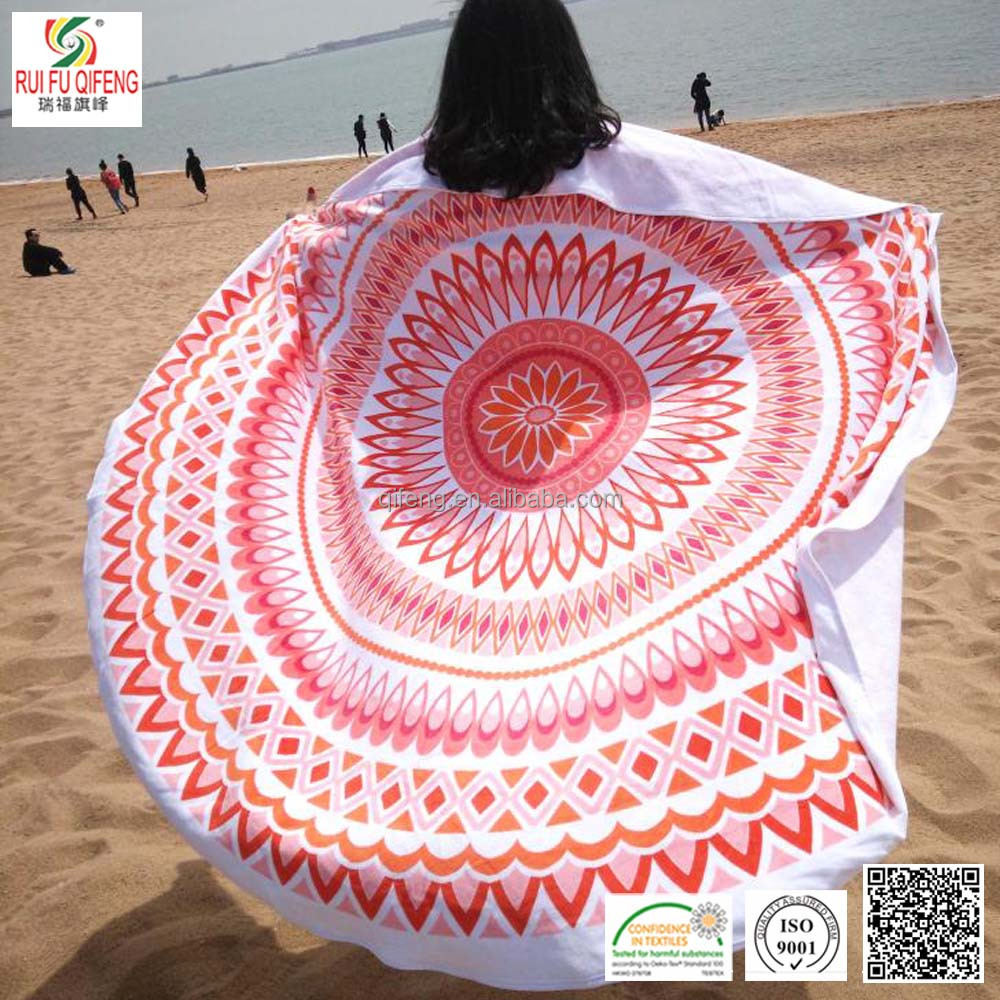 New business gift Saxy lady round donut sarong pareo towel