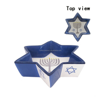 cheap ceramic star shaped plate, candy dish,snack tray for christmas