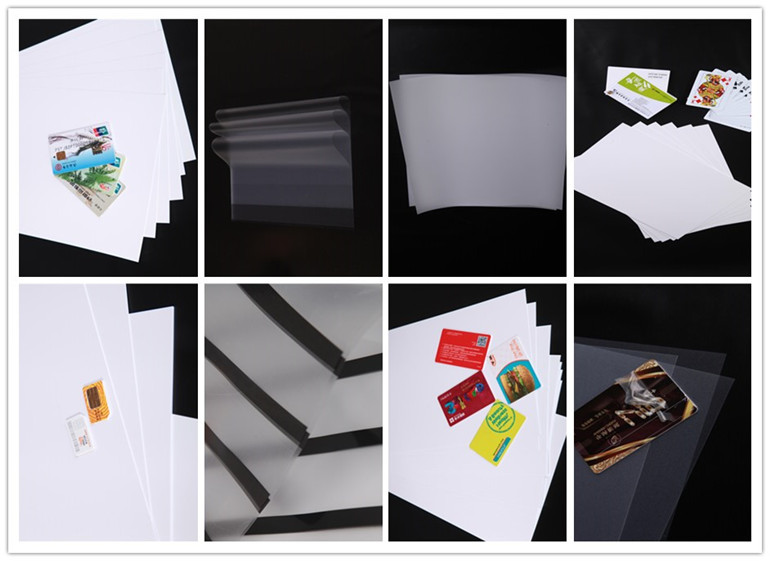 plastic Sheet ( PVC core and overlay for cards )
