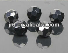 Cheap Green Octagonal Black Crystal Beads for Clothes Decor