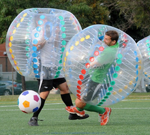 2017 durable PVC/TPU giant inflatable body soccer ball / human inflatable bumper bubble ball