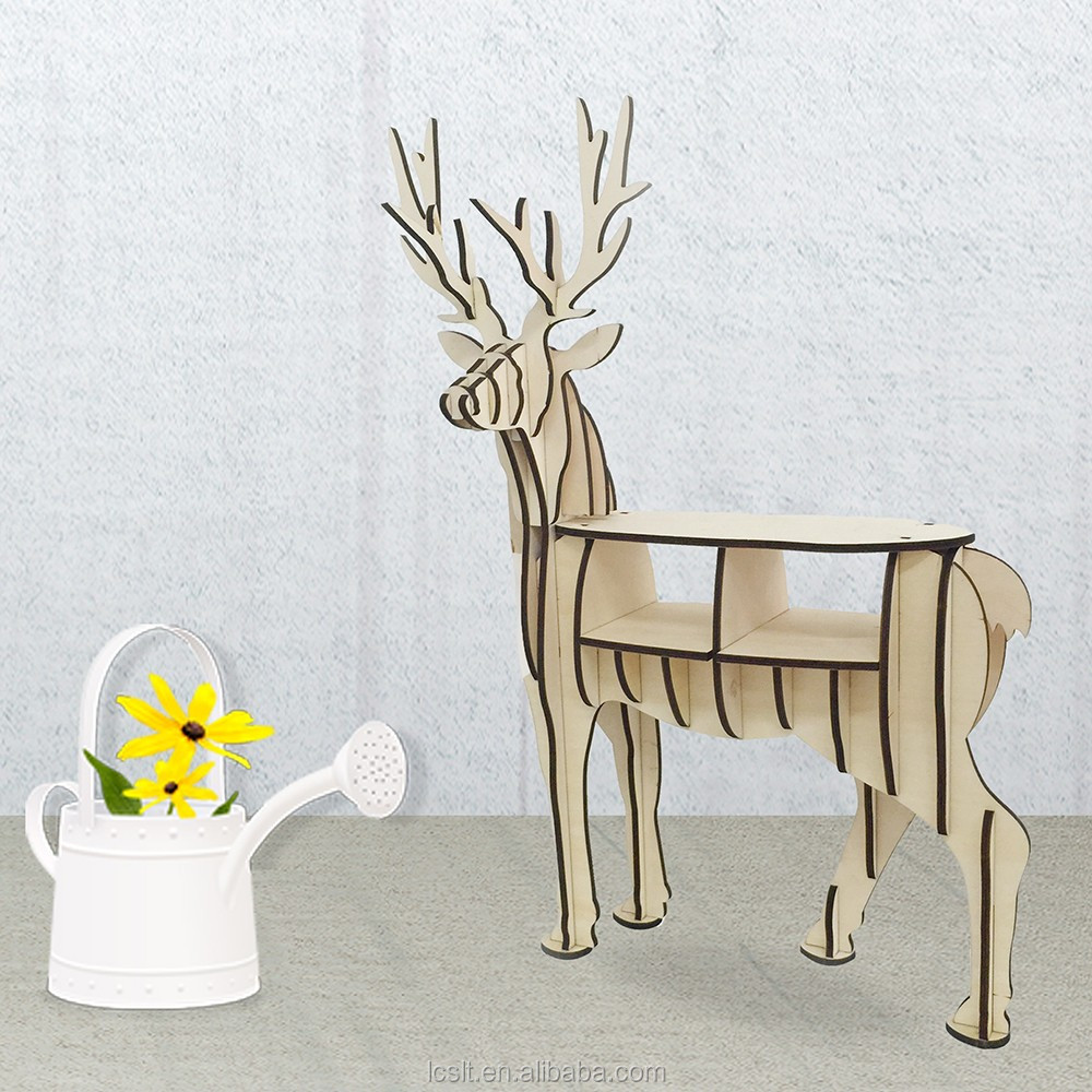 wholesale new DIY reindeer art minds wood crafts