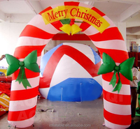 Inflatable Merry Christmas arch for festival decoration
