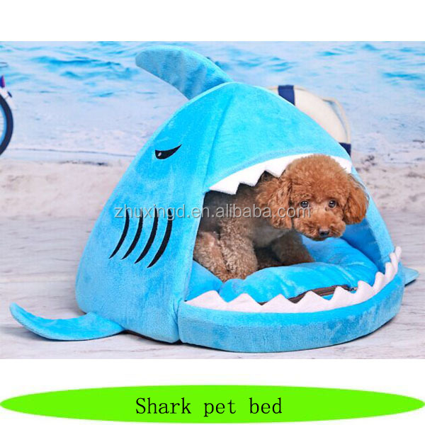 Wholesale heated dog house, hot sale heated pet bed, shark pet bed