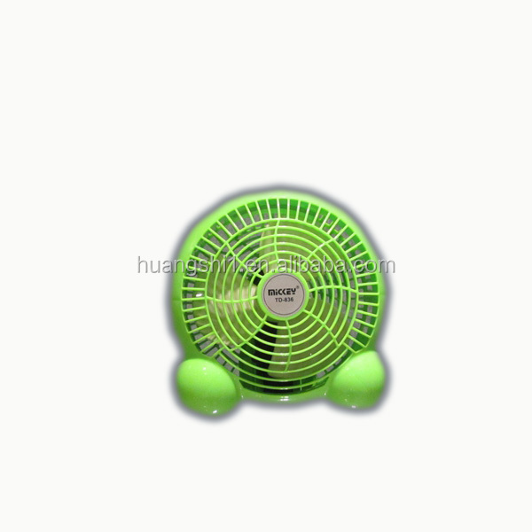 table or bed battery power source rechargeable fast blade mini plastic fan