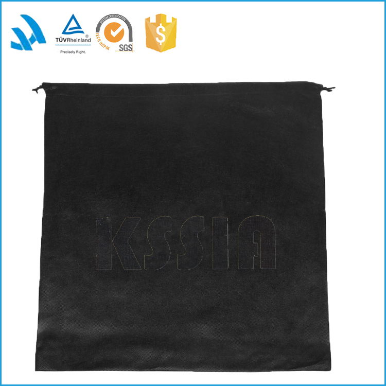 2017 High Quality black String/dust Bag Cotton Drawstring Shoe Bags