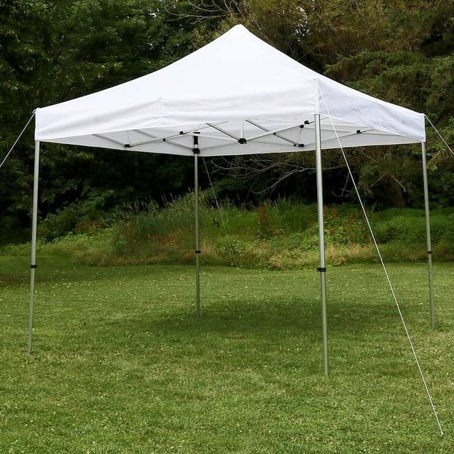 10 x 10 feet Pop Up Heavy Duty Instant Canopy with alu frame Commercial Portable Canopy with Sidewalls Enclosure, White