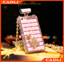 Christmas promotion gift luxury beige perfume bottle phone case for iphone 5 6 6 plus