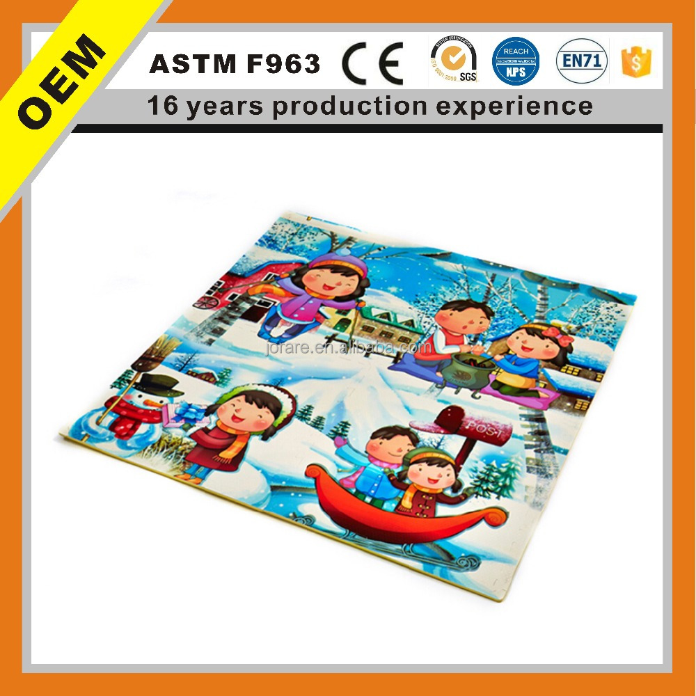 new products snow eva Cartoon Puzzle Mat For Baby Play Waterproof Baby Crawling Interlocking Foam Floor Mat