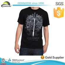 Fashion 100% Cotton black custom super soft cotton t-shirts