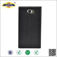Luxury Original Genuine PU Leather Cover black Cell Phone Case for Blackberry priv