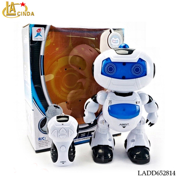 Best gift for kids intelligent walking robot toy propel 4 Channel rc robot toys