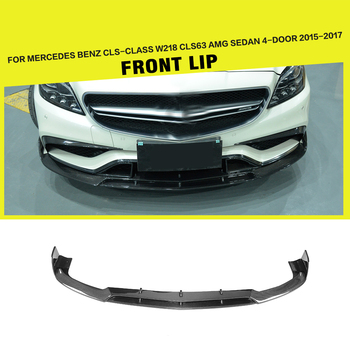 B Style Carbon Fiber CLS-Class W218 CLS63 Front Spoiler for Mercedes CLS63 AMG Sedan 4-Door 15-17