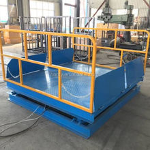 Garage used car lift hydraulic cargo lifting table with factory price