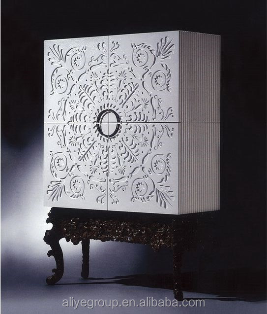 AD5105-Living room side cabinet chinese painted corner cabinet country <strong>style</strong> white cabinet