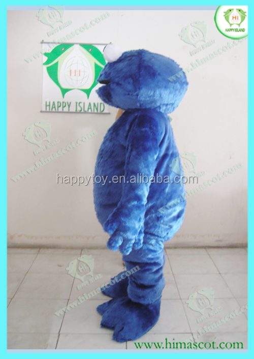 HI CE good price cookie monster mascot for rental,movable cartoon cookie monster costume