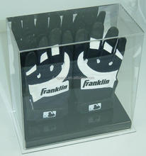 New Acrylic double baseball batting gloves display case holders