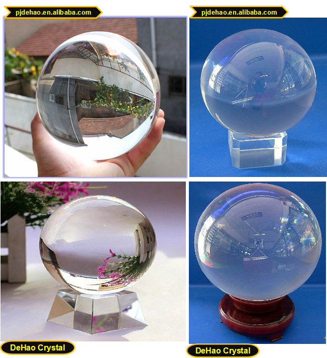 Wedding Decoration K9 material 200mm Crystal Ball Centerpiece