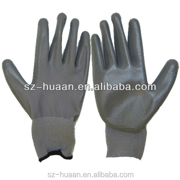 high quality Black Nitrile Gloves for mechanics and industrial