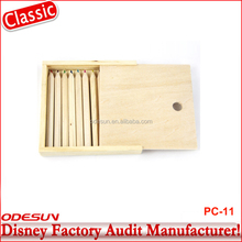 Disney Universal NBCU FAMA BSCI GSV Carrefour Factory Audit Manufacturer Rainbow Art Coloring Set In Wooden Case