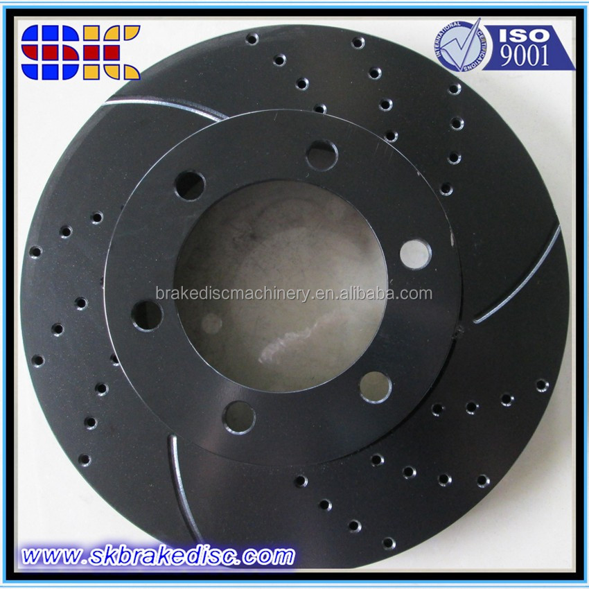 Electrophoresis brake disc rotor black color