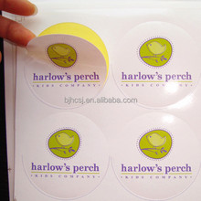 custom round adhesive sticker label in sheet