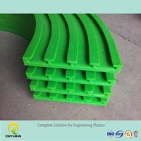 uhmwpe plastic chain guide rail, low price linear guide rail