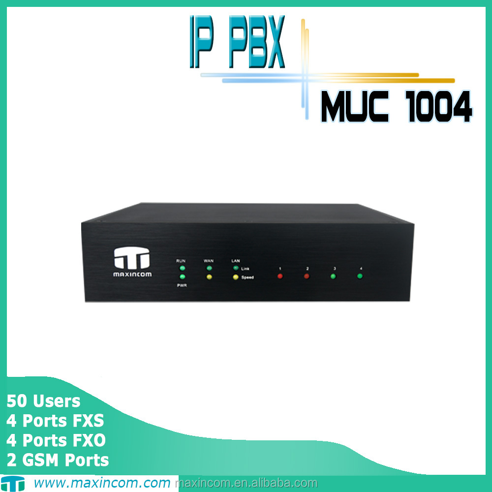 IP PBX 4 Ports with FXS/FXO/BRI 50 Users yeastar IP solution