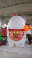 customized new design inflatable fortune cat,giant inflatable lucky cat