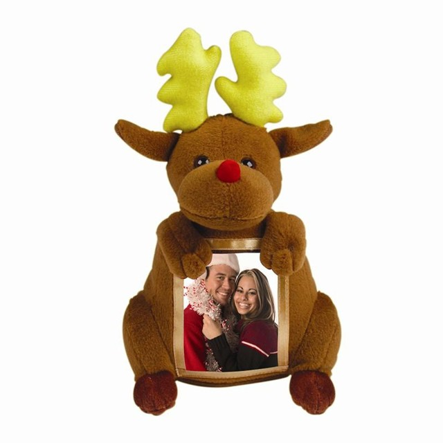 plush reindeer picture frame