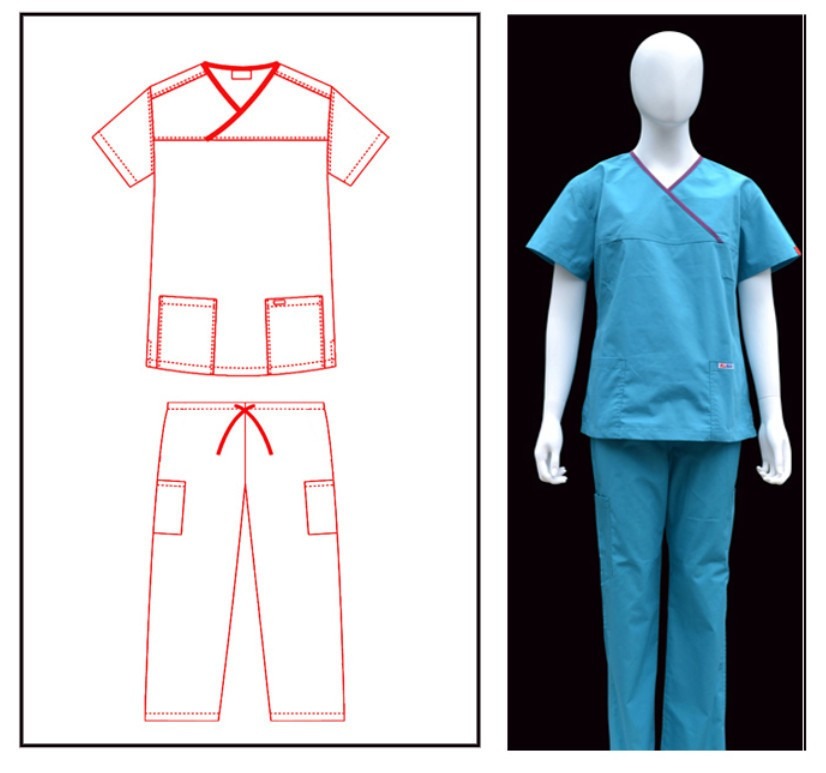 Nail salon uniform, uniform for beauty salon ,comfortable uniform