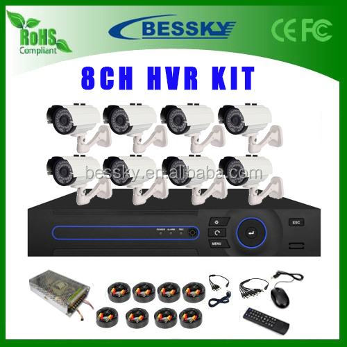 8CH 1080P AHD DVR Kit with 8 pcs Outdoor 2mp AHD CCTV Camera Security System Surveillance CCTV system