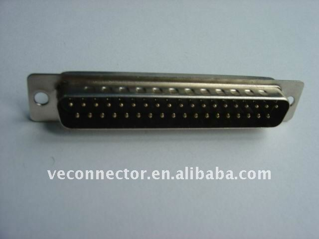 VGA socket connector,37pin,male,solder with cable for signal transmission