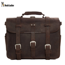 Multifunctional Large Size Men Top Grian Italian Genuine Leather Travel Bag 7072