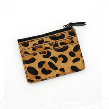 leopard style horsehide leather atm card cover