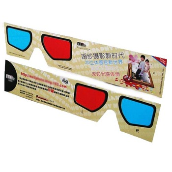 printed paper 3d glasses cinema red-cyan 3d glasses for tv and cinema