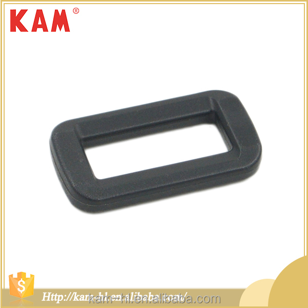 Rectangular shape plastic black adjustable belt buckle for bag